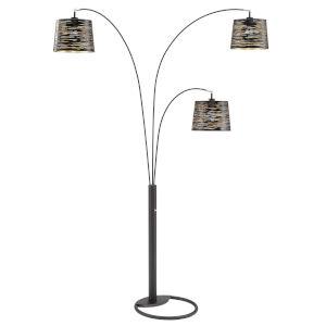 Mori Black Three-Light Tree Floor Lamp